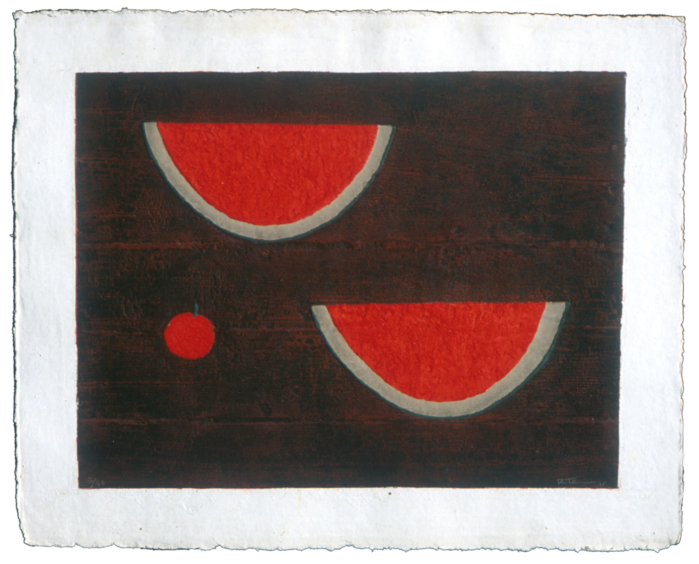 "Rufino Tamayo, ""Sandias con Manzana (Watermelon with Apple),"" 1985"