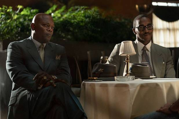"Samuel L. Jackson and Anthony Mackie in ""The Banker"""