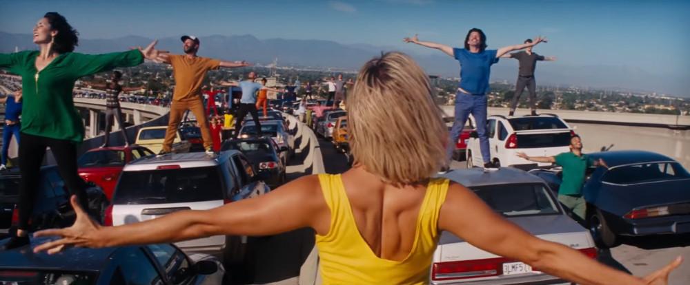 "The 110/105 interchange as seen on ""La La Land."""