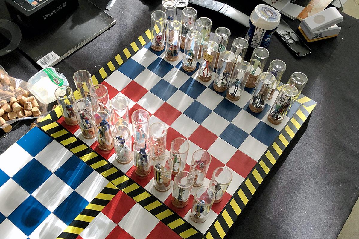Barrios' finished chess set. | Courtesy of Lyndon Barrois Sr.