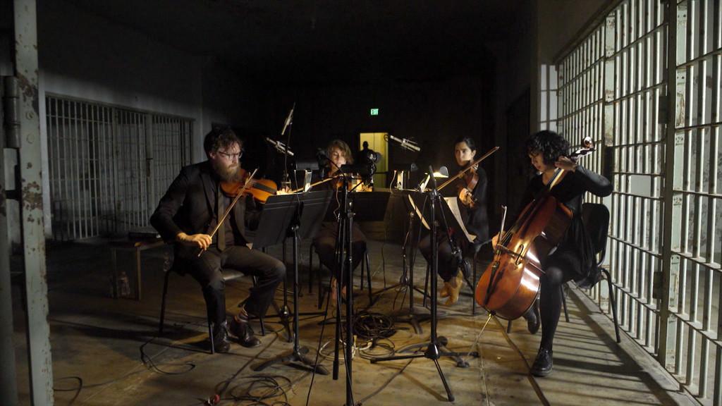 "The Kronos Quartet plays a portion of the ""Vireo"" opera at Alcatraz"