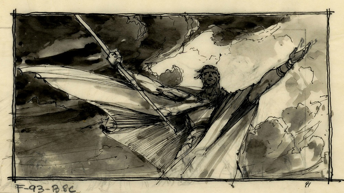 "Harold's storyboard of the ""Ten Commandments"" comes to life 