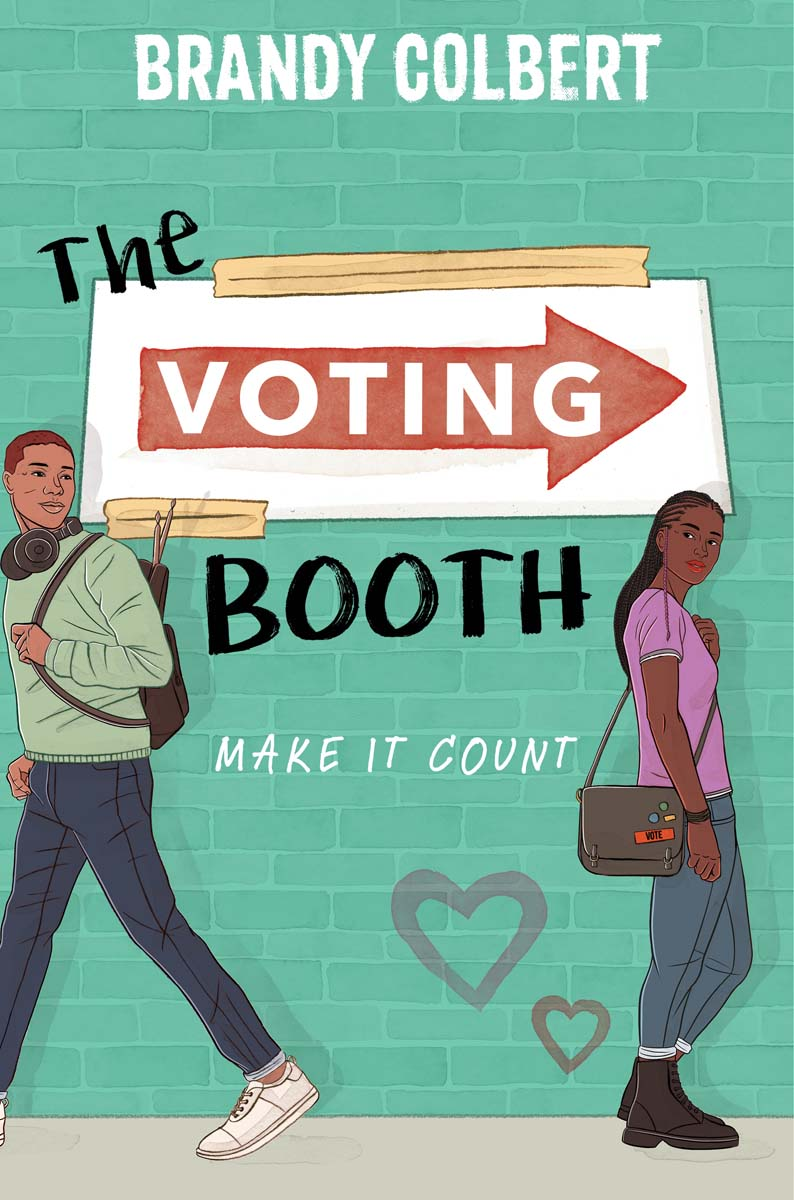 """The Voting Booth"" by Brandy Colbert book cover. 