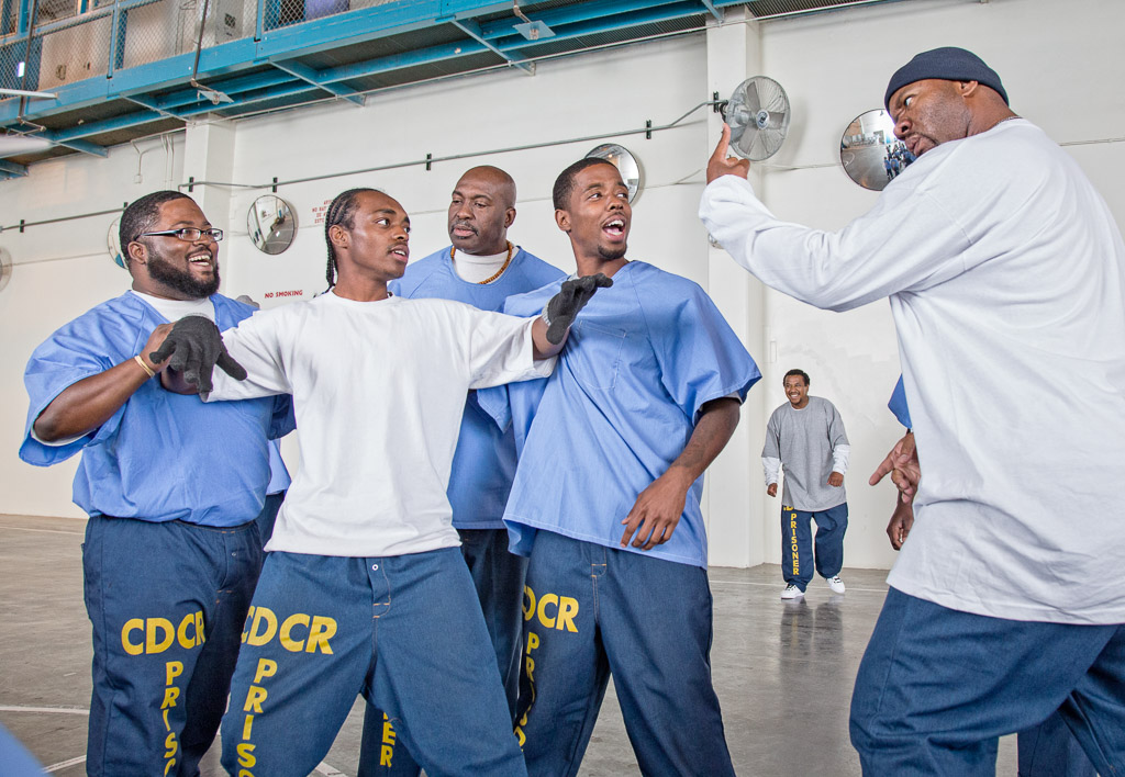 "Prison inmates appear in the play ""Redemption in Our State of Blues"" at California Rehabilitation Facility, Los Angeles County in Lancaster as part of a Strindberg Laboratory theater workshop."
