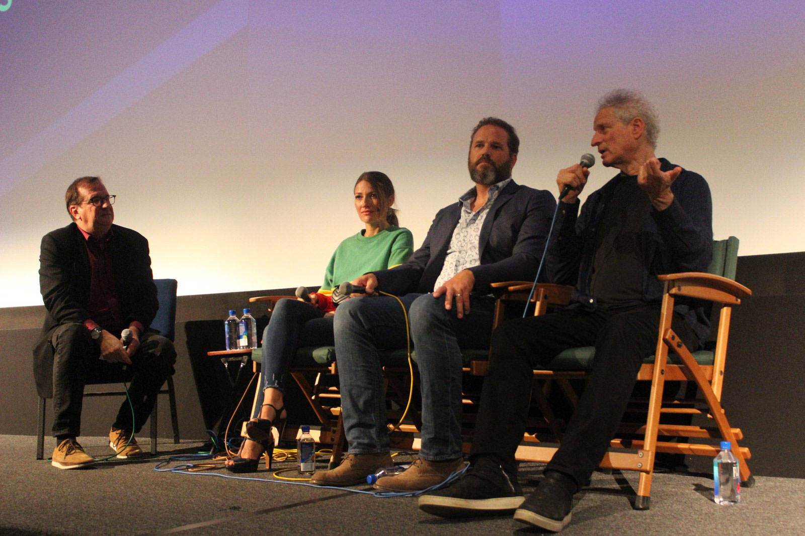 "Cinema Series host Pete Hammond, Actress Kelly MacDonald, Actor David Denman and Director/Producer Mark Turtletaub participate in a Q&A after a screening of ""Puzzle"""