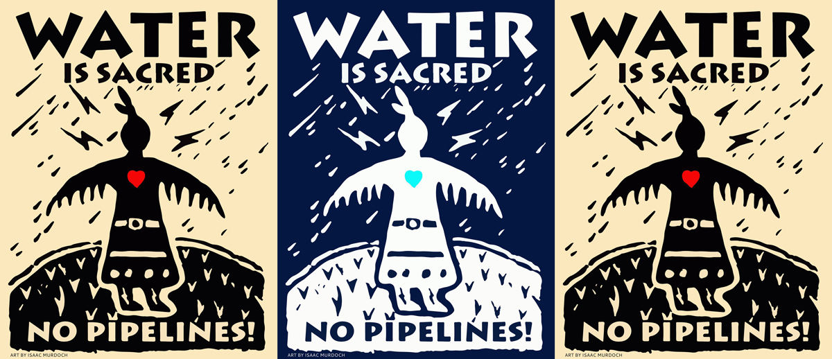 Thunderbird Woman opposes DAPL | Artwork: Isaac Murdoch