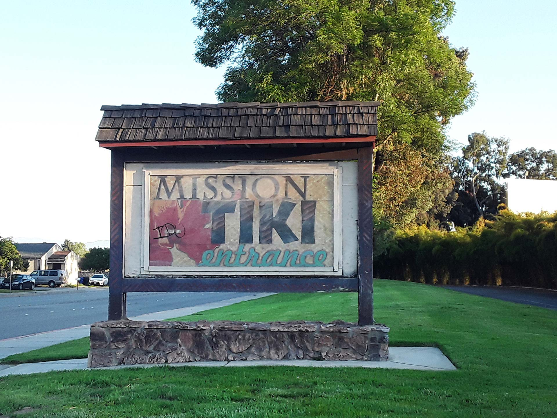 Entrance to the Mission Tiki Drive-In | Sandi Hemmerlein