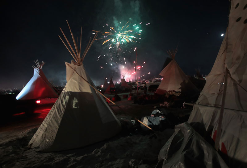 Fireworks at Standing Rock