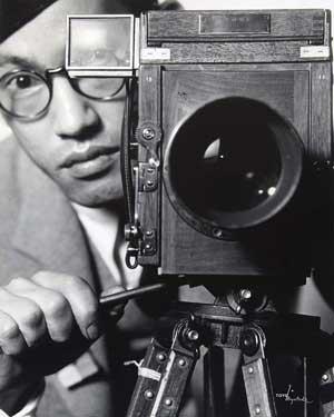 Toyo Miyatake behind the camera, a self-portrait | Courtesy of Toyo Miyatake Studio
