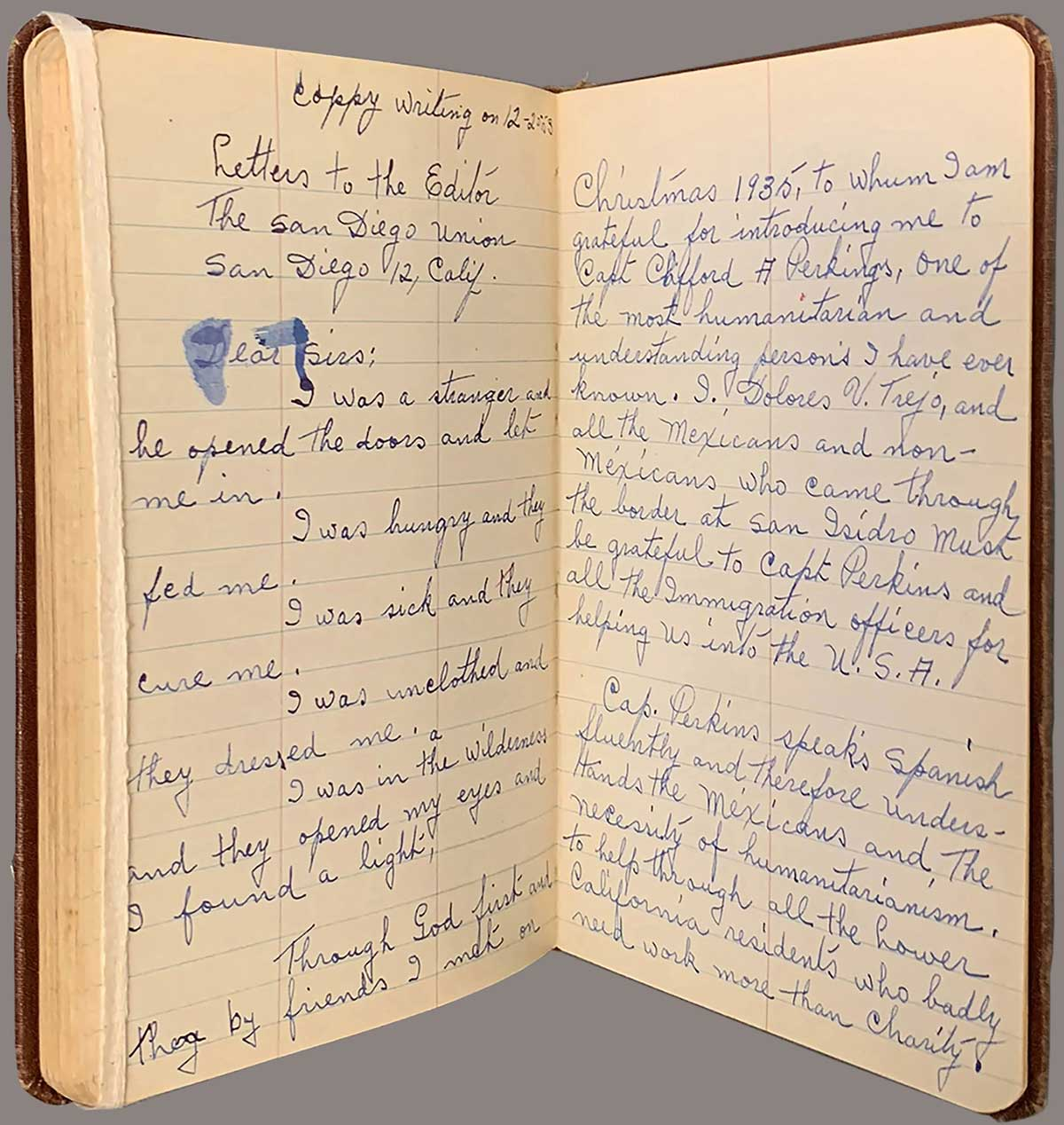 A page from the journal of Dolores V. Trejo, a single immigrant worker from Mexico who worked in California | The Huntington Library, Art Museum, and Botanical Gardens