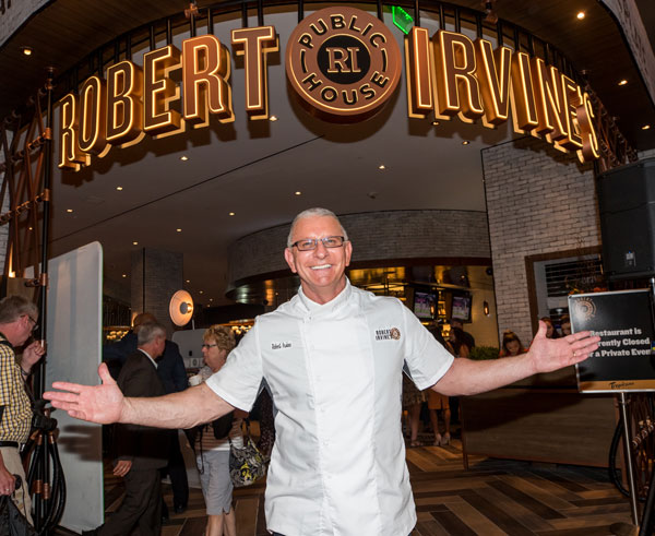 Robert Irvine at grand opening of his restaurant | Courtesy of Robert Irvine