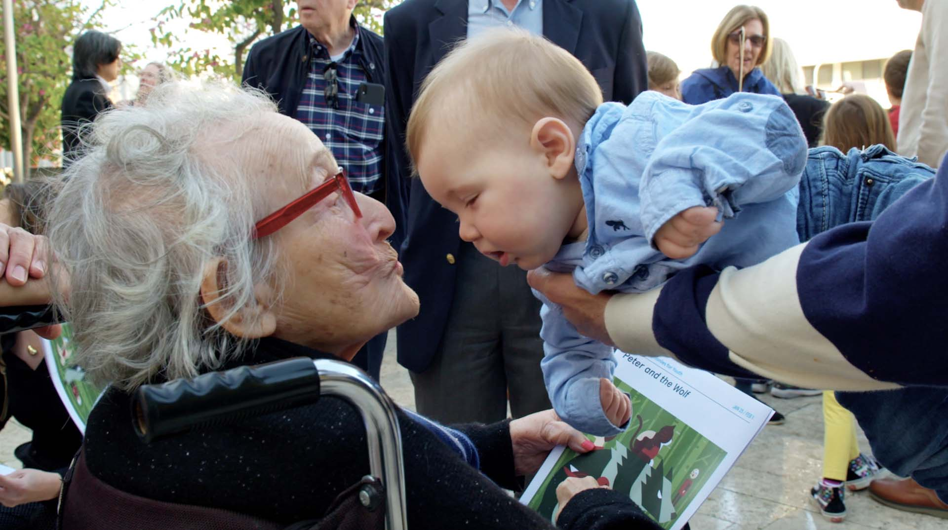 Trudy with one of her great-granchildren  | Courtesy of the Lehrer family