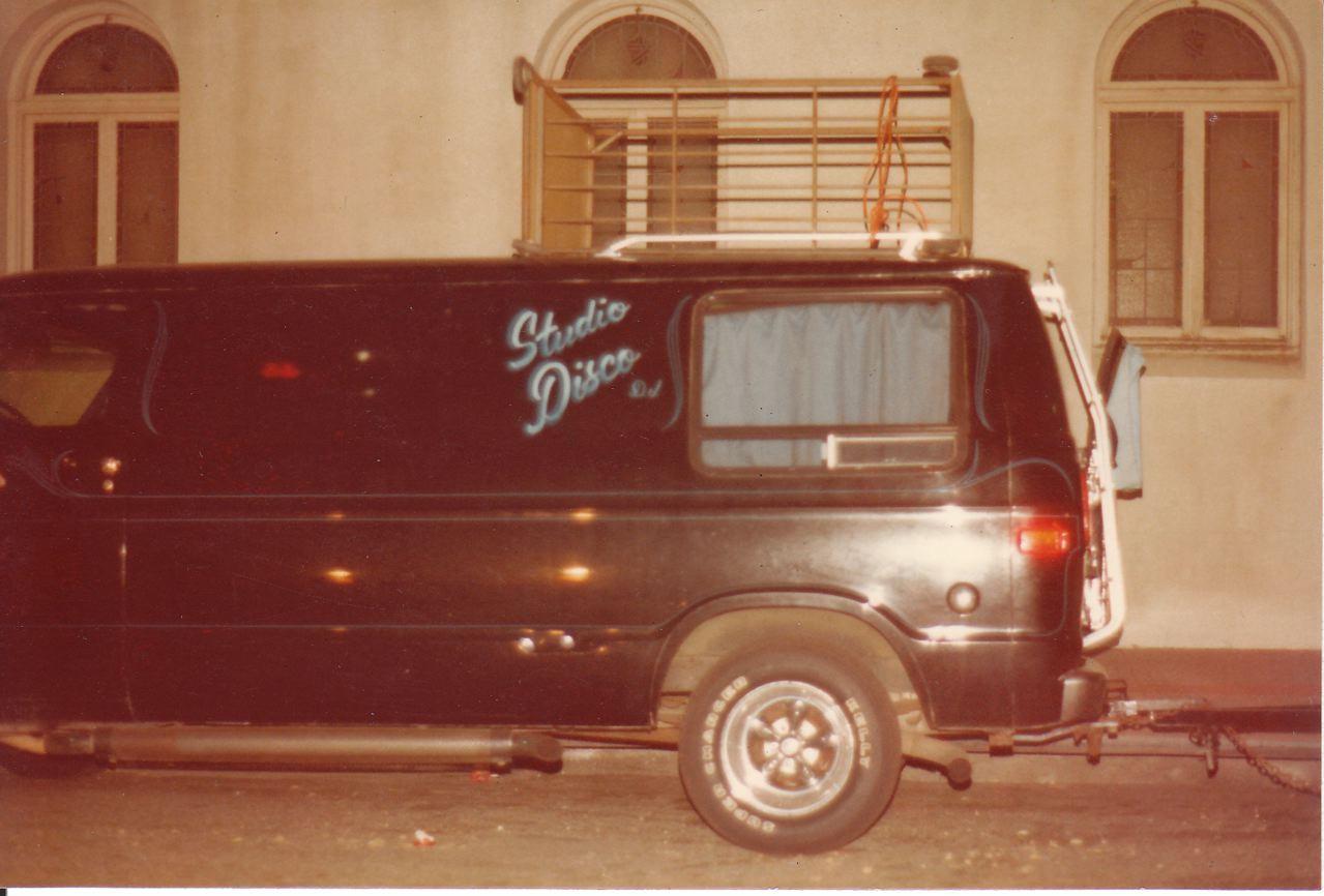 "A rare photo of ""The Van."""