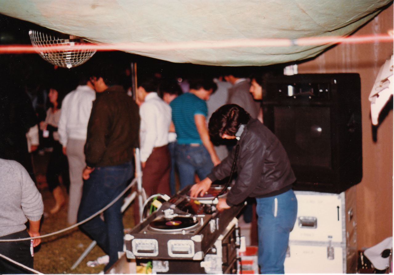 A typical house party setup