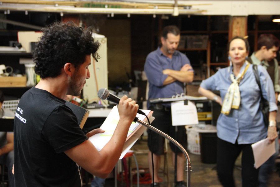 """Urban Rez"" play rehearsal"