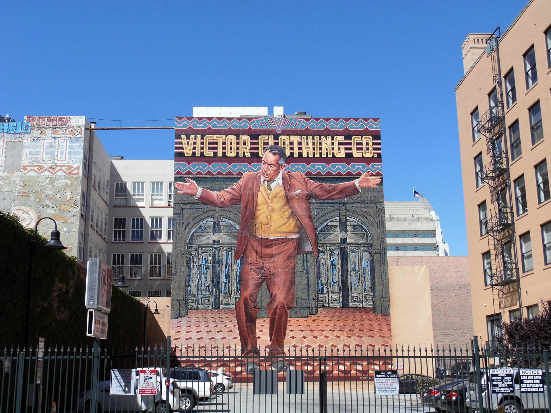 Victor Clothing Co. Mural by Eloy Torrez | Sandi Hemmerlein