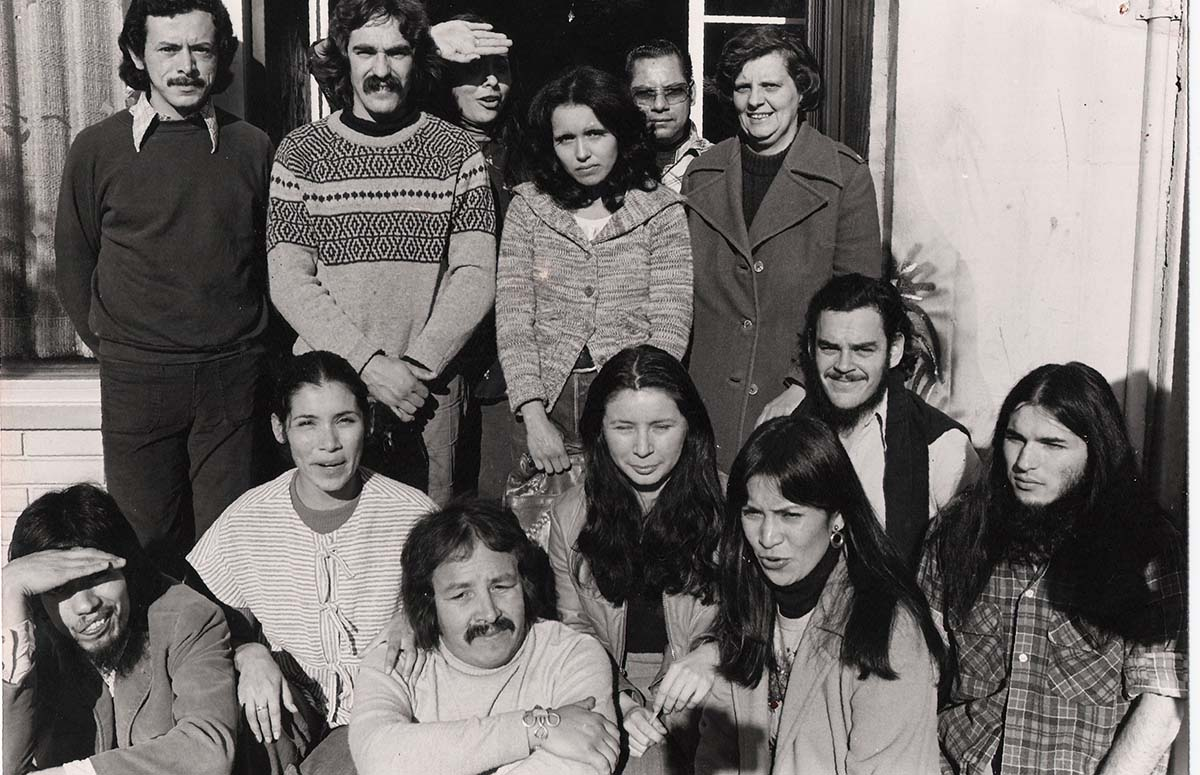Group shot of artists from Self Help Graphics & Art including Carlos Bueno, Antonio Ibáñez and Sister Karen Boccalero | Courtesy of Self Help Graphics & Art
