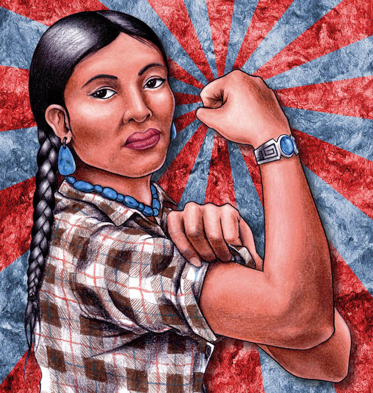 "Votan Henriquez, ""Warrior Wombyn (aka Rezzie the Riveter)."""