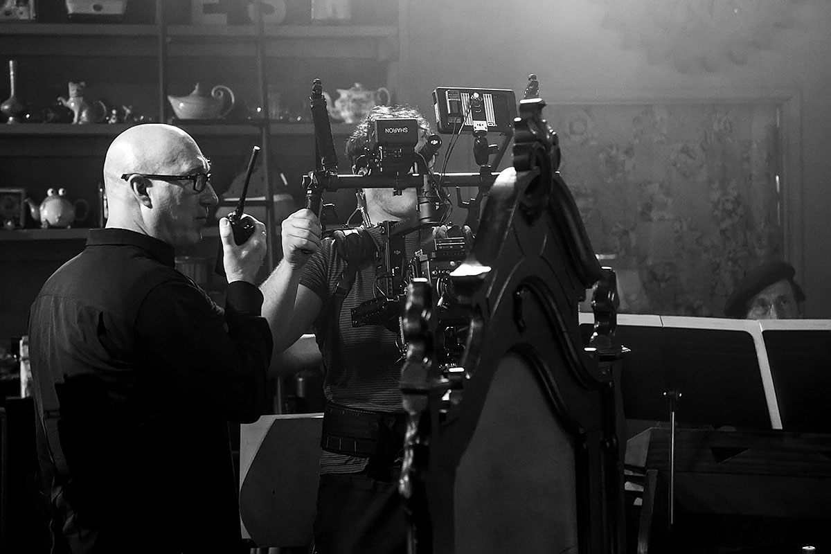"Director Charles Otte on the set of ""Vireo"""