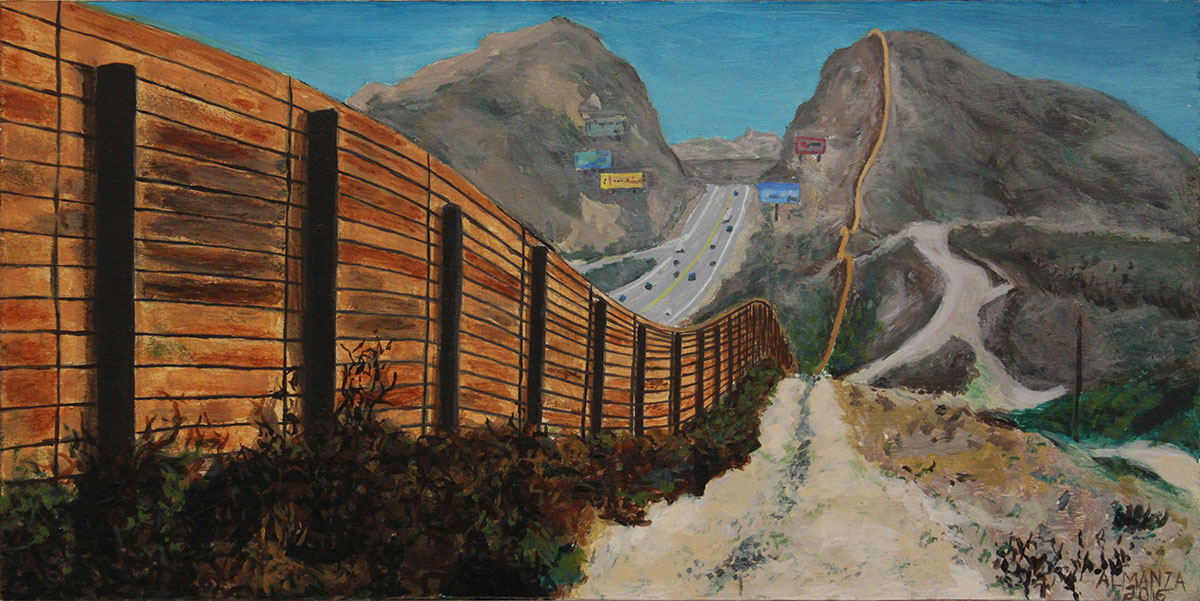 """The Great Wall of USA"" by Eric Almanza is featured in the exhibition ""E Pluribus Unum: Out of Many, One,"" at Studios on the Park in Paso Robles. 