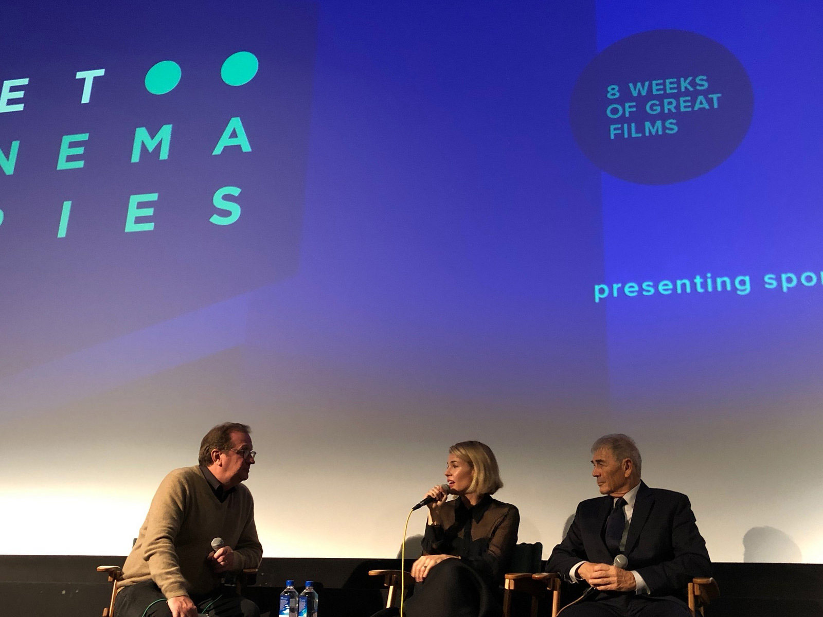 "Cinema Series host Pete Hammond, Actor Robert Forster and Director/Writer Elizabeth Chomko participate in a Q&A after a screening of ""What They Had"""