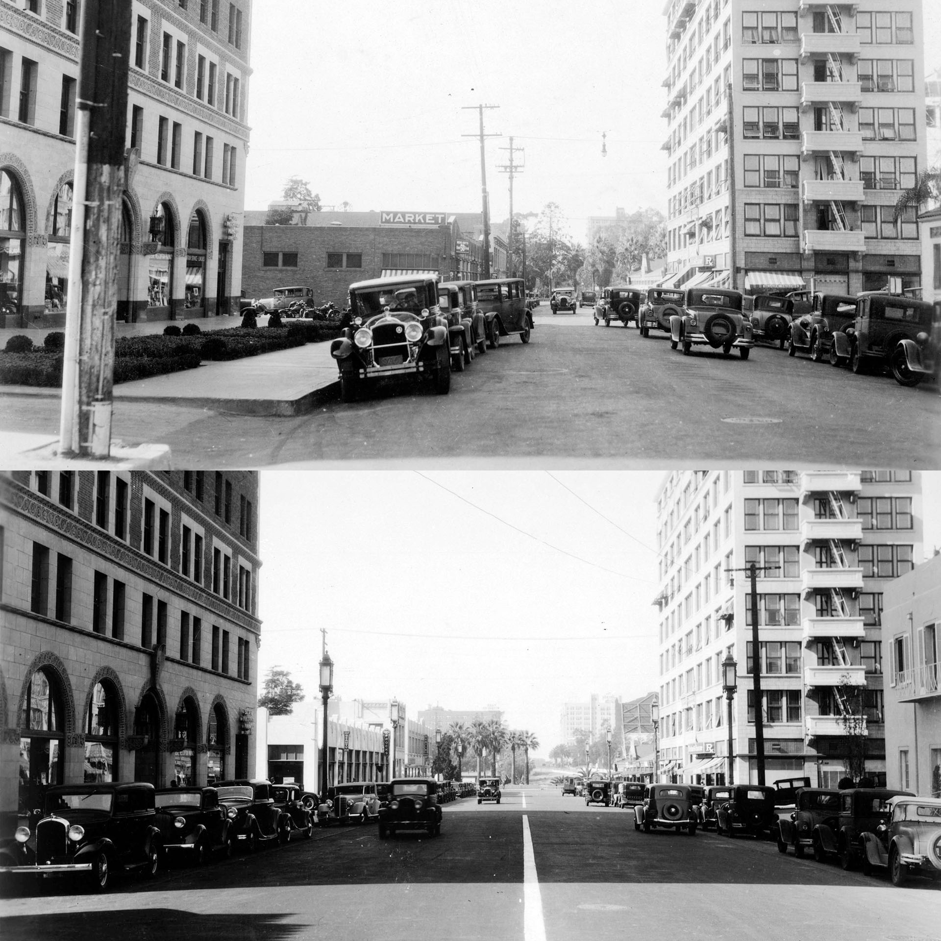 Widening Wilshire at Bonnie Brae (before/after)