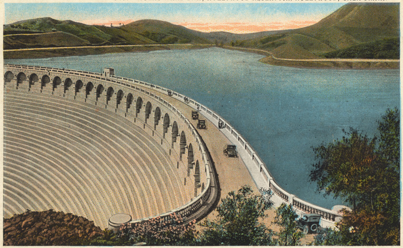 Mulholland Dam in the 1920s