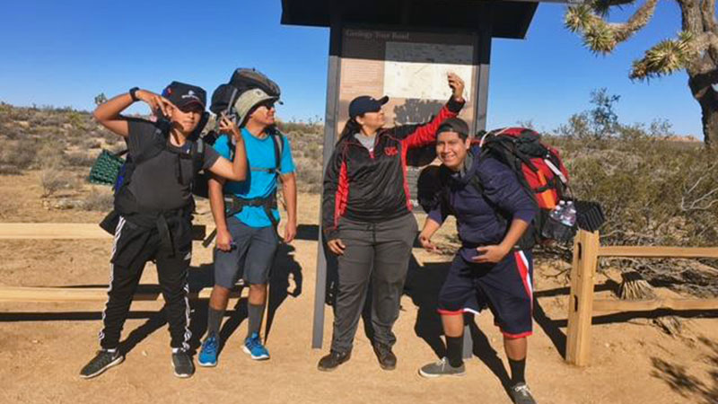 Young people from the Coachella Valley set out on their first backpacking trip in Joshua tree. | Photo: Seth Shteir