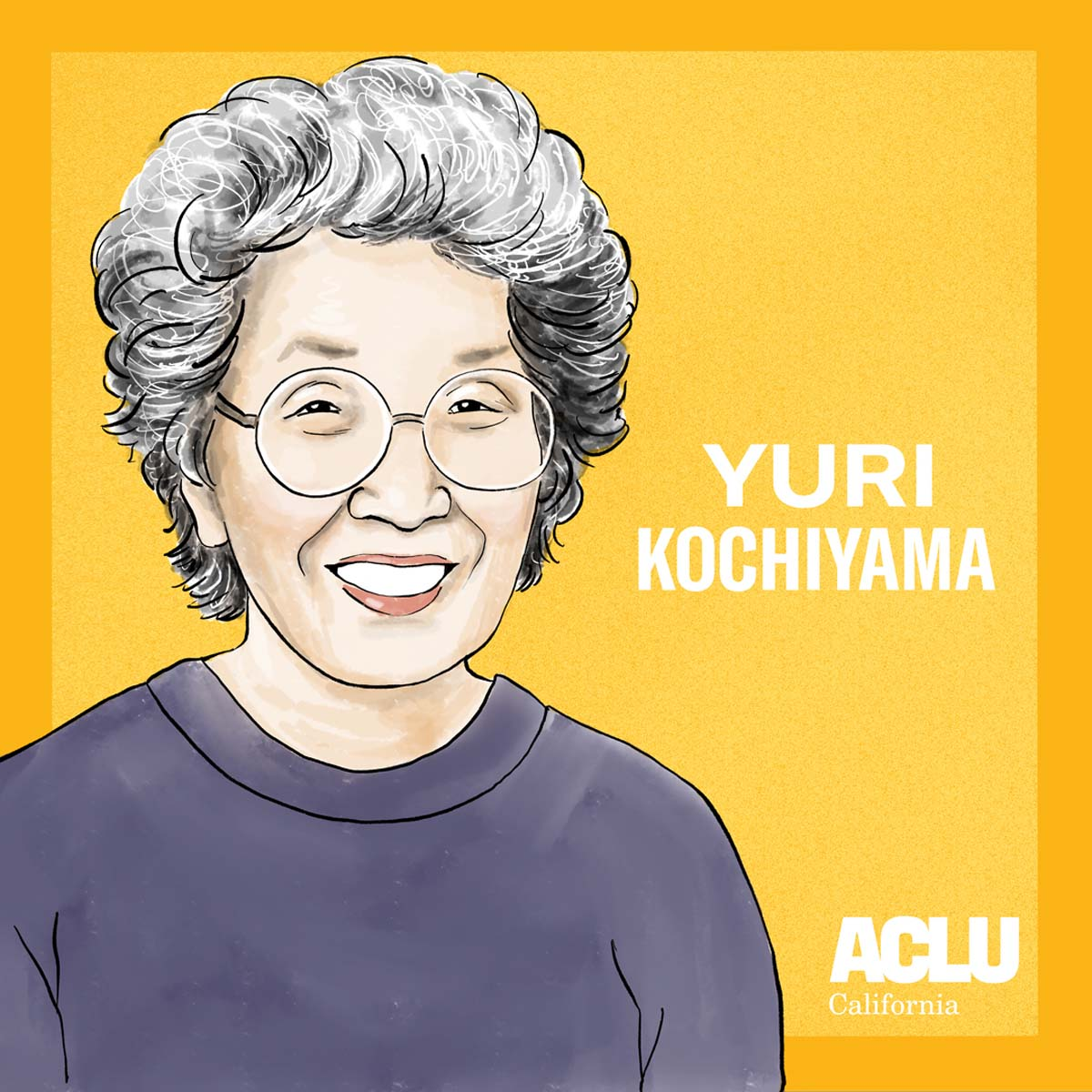 Portrait of Yuri Kochiyama | Audrey Chan, ACLU SoCal