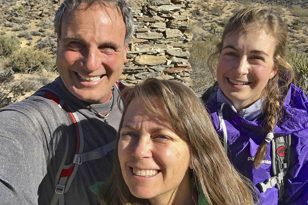 The Zacks: Dan, Cindy and Sierra on the Lost Horse Mine trail loop | Courtesy of the Zacks family