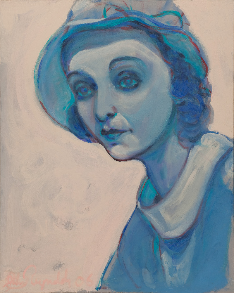 "John Reynolds, ""Zasu In Blue.""   Image: Courtesy of the artist."