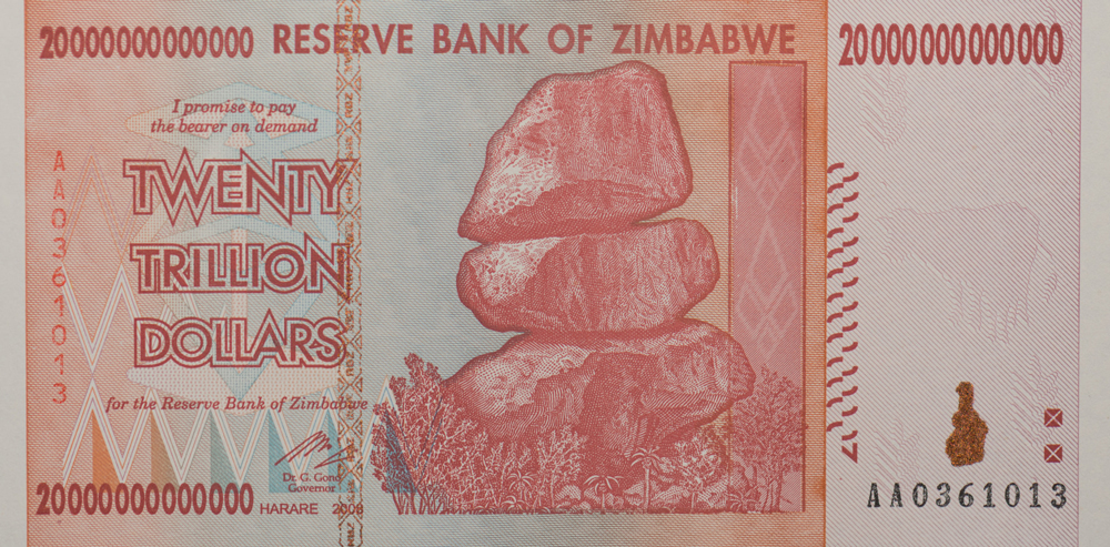 20 trillion dollar bill, Zimbabwe, 2008 | Image: James Malone, some rights reserved