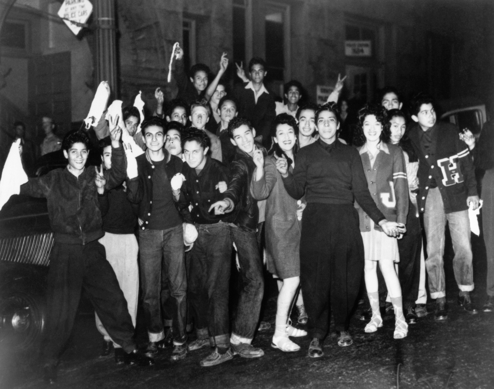 Zoot Suit Riots, young pachucos in L.A.